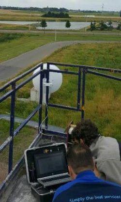 Wifi-oplossing: Netwerkmeting in uitvoering